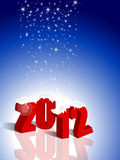 New Year 2012. Blue elegance New Year 2012 wallpaper for background and design vector illustration