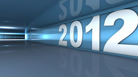 New year 2012. Concept in 3d royalty free illustration