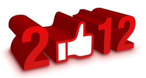 New Year 2012. Facebook Concept Royalty Free Stock Image