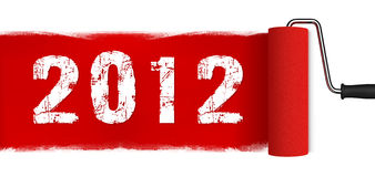 New Year 2012. Paint Brush Concept Royalty Free Stock Image