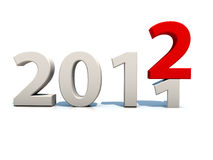 New Year 2012. Over white background Royalty Free Stock Photos