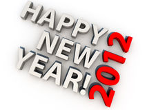 New Year 2012. Happy new year 2012, over white background Stock Photography