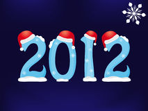 New Year 2012. Illustration of New Year card (2012 Stock Image