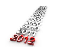 New Year 2012. Over white background Royalty Free Stock Photography