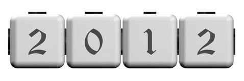 New Year 2012. On white cubes Stock Photos