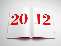 New year 2012. 3d render Royalty Free Stock Image