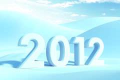 New year 2012. 3d render Stock Photos