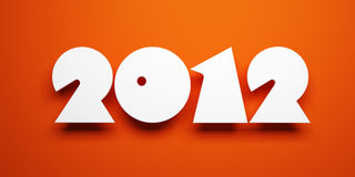 New year 2012. 3d render Stock Photo