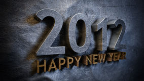 New year 2012. Concept in 3d Stock Images