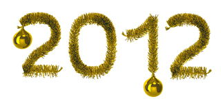 New year. 2012. Isolated on white background vector illustration