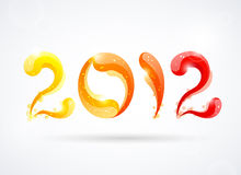 New year 2012. Vector illustration Stock Image