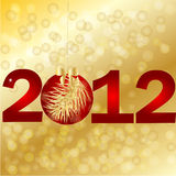 New Year 2012. Vector illustration Royalty Free Stock Images