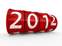 New Year 2012. Greeting card Royalty Free Stock Images