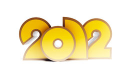 New year 2012. 3d render Royalty Free Stock Photo