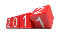 New year 2012. Computer generated image Royalty Free Stock Image