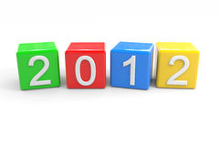 New year 2012. Computer generated image Royalty Free Stock Photography