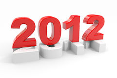 New year 2012. Computer generated image Stock Photo