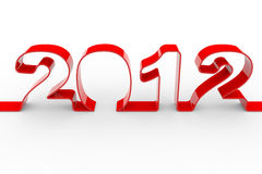 New year 2012. Computer generated image royalty free illustration