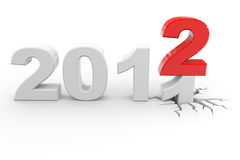 New year 2012. Computer generated image Royalty Free Stock Photos