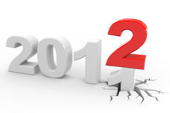 New year 2012. Computer generated image Stock Photos