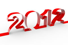 New year 2012. Computer generated image Stock Image