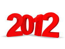 New Year 2012. 3d Image Royalty Free Stock Image