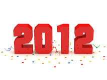 New Year 2012. 3d Image Stock Photography