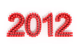 New Year 2012. 3d illustration Royalty Free Stock Photography