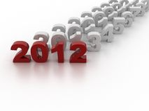 New Year 2012. In white background Stock Image