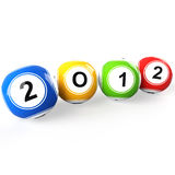 New Year 2012. 3d render illustration Stock Photography
