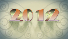 New year 2012 arabesque background. Card of new year 2012 with arabesque background Stock Photos
