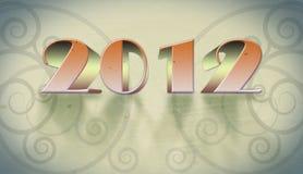 New year 2012 arabesque background Stock Photos