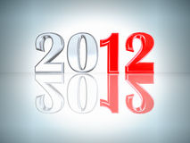 New Year 2012 background. New Year inscription 2012 with a reflection Stock Illustration