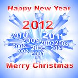 New Year 2012 background Stock Photos