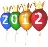 New Year 2012 balloons Royal party decoration Royalty Free Stock Photo