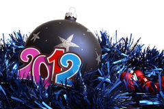 New Year 2012 and a bauble Stock Photography