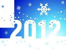 New Year 2012 blue background Royalty Free Stock Image