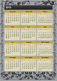 New Year 2012 calendar Stock Photos