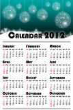 New year 2012 calendar Royalty Free Stock Image