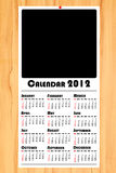 New year 2012 calendar on wooden board. The new year 2012 calendar on wooden board Stock Image