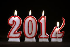 New Year 2012 (candles). Burning candles for year 2012 Royalty Free Stock Image