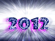 New Year 2012 celebrations,. Happy New Year 2012 glitter and stars Royalty Free Stock Image