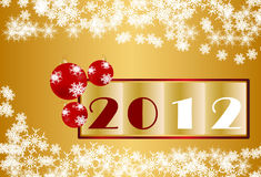 New Year 2012 Christmas Fund. Decorative background in gold to celebrate the New Year 2012 vector illustration