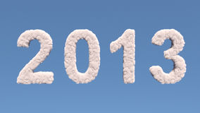 New year 2012 cloud shape. On blue background royalty free illustration
