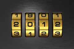 New Year 2012 code lock Stock Images