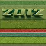New year 2012 colored card Stock Photo