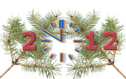 New Year 2012 is coming. Clock shows new Year 2012 Stock Illustration