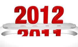 New Year 2012 comming concept. New Year 2012 comming, 3d render Stock Photo