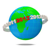 New Year 2012 Concept. 3d Image Stock Photos