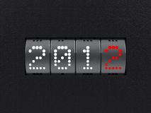New year 2012 counter. Design component of a counter dial that is showing the year 2012 stock illustration